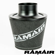 RAMAIR BLACK LARGE ALUMINIUM INDUCTION CONE AIR FILTER 100mm OD NECK UNIVERSAL