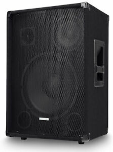 "B-WARE DJ PA 3-Wege Passiv Lautsprecher Bühnen Monitor 12"" (30cm) Subwoofer 600W"