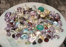 Lot 150 carats de pierres semi-précieuses naturelles taillées Vrac revente...