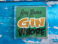 Gin Whore Personalised Coaster  - Drink Coaster - Add Name