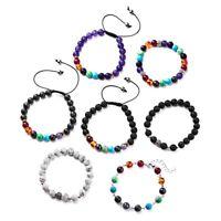 Handmade 7 Chakra Stone Reiki Yoga Beaded Elastic Bracelet Healing Women Jewelry