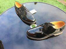Vintage Dr Martens 1461 black patent leather UK 10 EU 45 Made in England Steed