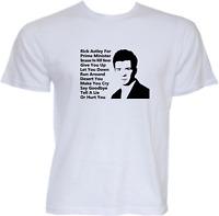 Rick Astley For Prime Minister Mens Funny T Shirt Slogan Politics Novelty Gift