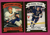 1990-91 NORDIQUES LINDROS + BLUES BRETT HULL  LIMITED  CARD (INV#2702)
