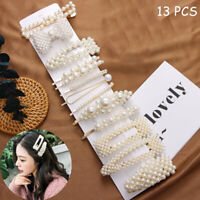 ☆13Pcs/set Pearl Hair Clip Barrettes 2019 Fashion for Women Hairpins Accessory☆