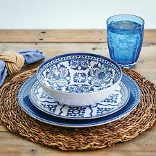 18-Piece Melamine Dinnerware Set French Country Blue and White Member's Mark