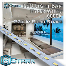 1M 3.3FT Cool White 72 LED 5630SMD Strip Light Aluminum Case Display Cabinet x20