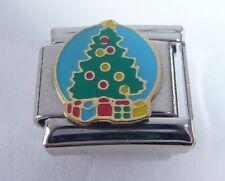 CHRISTMAS TREE Italian Charm - Happy Decorations 9mm fits Classic Bracelets N202