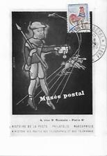 France Postal Museum Postcard With 25c My Ref 639