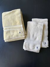 Ralph Lauren Polo Pony 1 Bath Towel 2 Hand Towels Soft Yellow