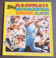 1981 Mlb Topps Baseball Stickers Empty Album