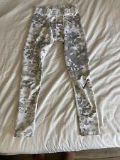 Nike Pro Combat Compression Leggings Pants Gray White Camo Mens M