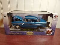 M2 Machines 1957 Chevy Bel Air 210 Hardtop 1:24 Scale Diecast Model Car Blue R54