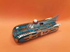 VINTAGE OLD RARE HUNGARY SPACE TIN TOY ROCKET CAR BATTERY OPER.