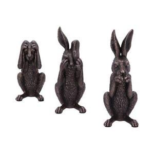 Three Wise Hares 14cm Hare Figurine