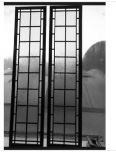 """Tall Leaded glass windows  Or Sidelight Door Glass  12"""" x 65   WOW"""