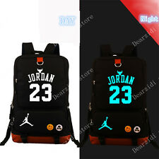 Jordan 23 Basketball Noctilucence laptop Backpack men Canvas travel School Bag