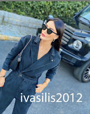 ZARA NEW WOMAN DENIM JUMPSUIT BLACK XS-L 6840/047