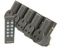 5 Pack Remote Control Wireless Sockets UK Mains AC Power 30mt Range