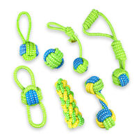 Training Play Dog Rope Toy Braided Cotton Pet Teeth Ball Node Puppy Chew