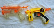 Lof of 2  Orange & Clear Nerf Action Pull Back Pistol Dart Gun Laser Sight