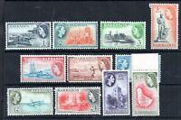 Barbados 1953 QEII mint MNH part set to $1.20 WS11335