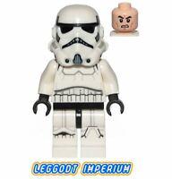 LEGO Minifigure Star Wars - Storm Trooper - dual molded helmet sw997 FREE POST