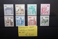 """FRANCOBOLLI GERMANIA GERMANY 1977 """"CASTELLI E FORTEZZE"""" NUOVI MNH** SET (CAT.X)"""