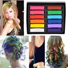Small Size 12 Colors Non-toxic Temporary Salon Kit Pastel Square Hair Chalk New