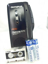 More details for olympus pearlcorder s711 microcassette voice recorder dictaphone dictation black