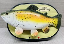 Vintage Rocky The Singing Rainbow Trout Singing Fish Tested & Working