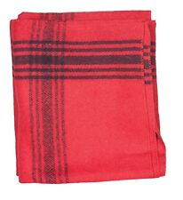 Navy-striped Red 70% Wool Blanket by Fox Outdoor - Replica of NATO Military