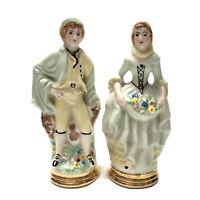 Vintage Porcelain Victorian Couple Man And Woman German? Italian?