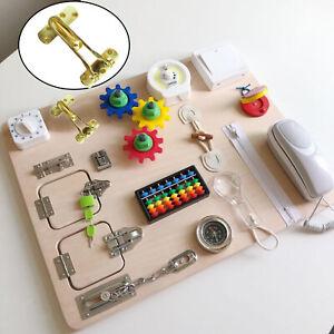 Busy Board Kit Sensory Metal Clasp Teaching Educational Toys Pretend Play