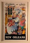 Vintage 1979 New Orleans Cooking With Jazz Creole Poster Watercolor Meiersdorff
