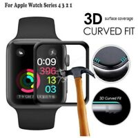 3D Full Cover Tempered Glass Screen Protector For Apple Watch 38/42mm 40mm 44mm