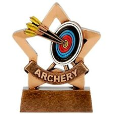 PACK OF 10 ARCHERY MINI STAR TROPHY BOW ARROW TARGETS QUIVERS 8cm A1106 GMS