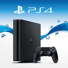 Sony PlayStation 4 Slim 500GB - PS4 Jet Black Console (New Retail Box )