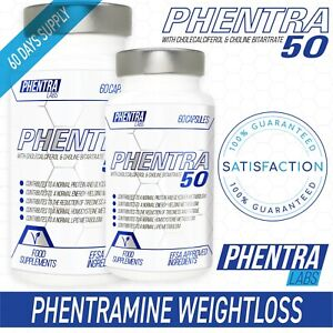 PHENTRAMINE BY PHENTRA LABS FAT BURNERS APPETITE SUPPRESSION PHEN50 DIET TABLETS