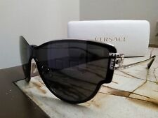 VERSACE MOD 2172-B 1252/87 Sunglasses w crystal Gold Black / Dark Grey 140 Italy
