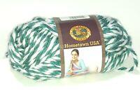 Lion Brand Hometown USA Green White 100% Acrylic Yarn Super Bulky #6