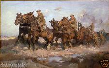 Harold Septimus Power Bringing Up The Guns Australian Army 1917 7x5 Inch Print