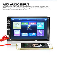 7'' LCD 2 DIN In-Dash Bluetooth Car Stereo MP3 Player FM Radio Touch Screen AUX