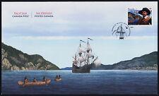Canada 2969 on FDC - Mathieu Da Costa, Black History Month, Ships
