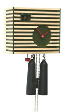 Black Forest Modern Art Cuckoo Clock Bauhaus green NEW