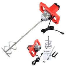 Costway Electric Mortar Mixer 1600W Dual High Low Gear 6 Speed Paint Cement