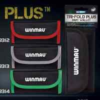 WINMAU TRI-FOLD PLUS DARTS CASE - 4 Colours, Trifold Darts Wallet Wrap