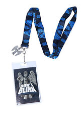 DOCTOR WHO WEEPING ANGEL DON'T BLINK Lanyad ID Holder Keychain W/Rubber Charm
