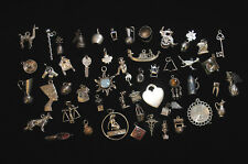 VINTAGE STERLING SILVER ETC MIXED LOT CHARMS