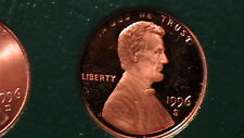 BEAUTIFUL 1996-S  PROOF CAMEO BLAZING RED LINCOLN CENT!  824A6